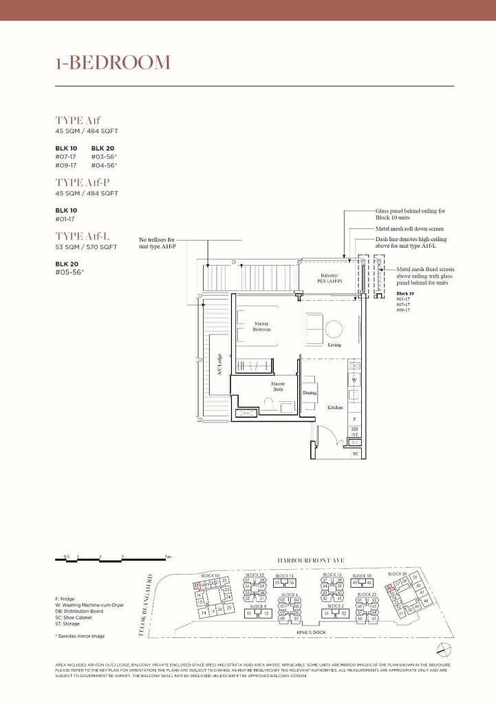 The Reef at King's Dock The Reef floorplan type A1f P