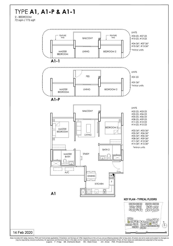 OLÁ OLA floorplan type A1 P