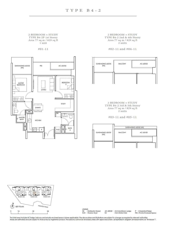 Peak Residence Peak Residence Floorplan B4 2P