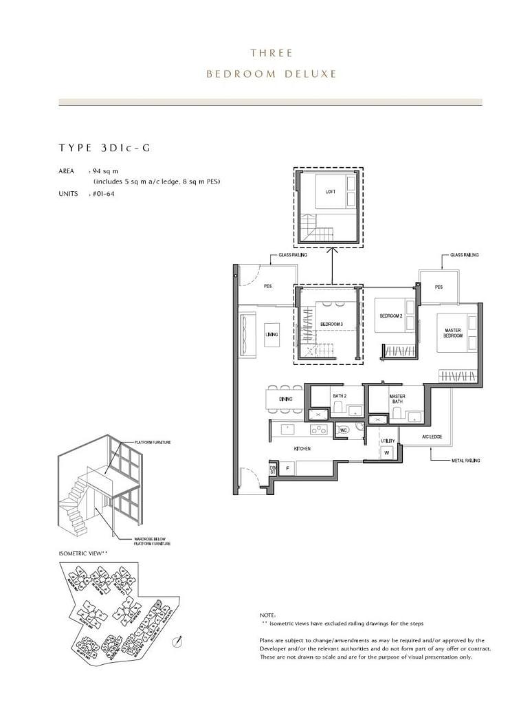 Parc Komo Parc Komo floorplan type 3D1c G