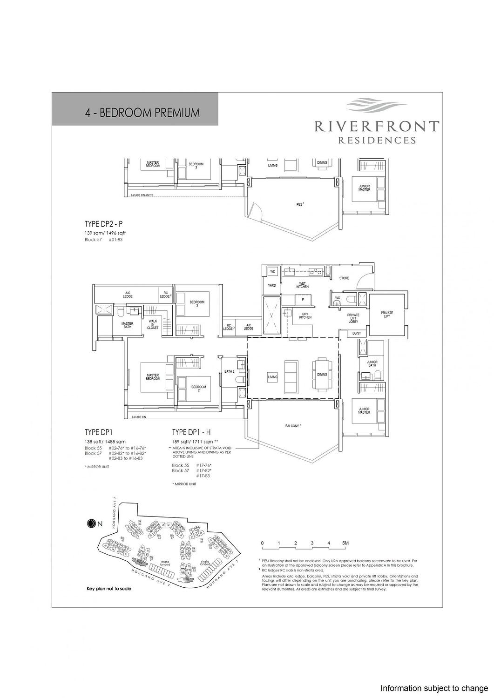 Riverfront Residences Riverfront Residences Floorplan DP2 P scaled