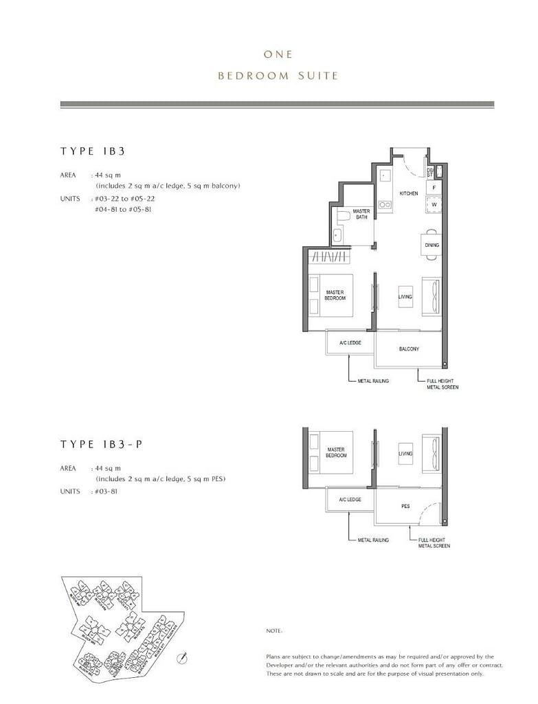 Parc Komo Parc Komo floorplan type 1B3 P