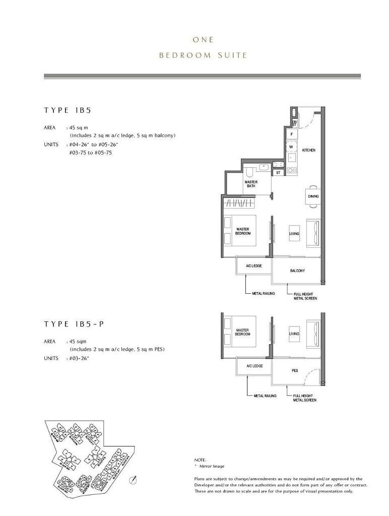 Parc Komo Parc Komo floorplan type 1B5 P