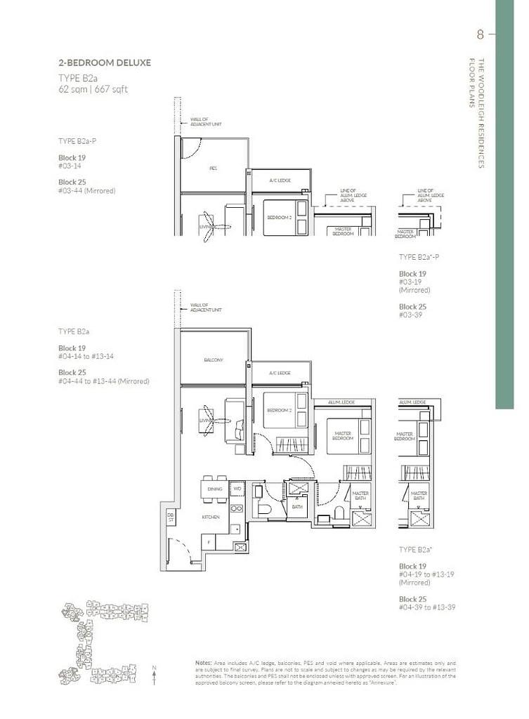 Woodleigh Residences Woodleigh Residences floorplan type B2a P1
