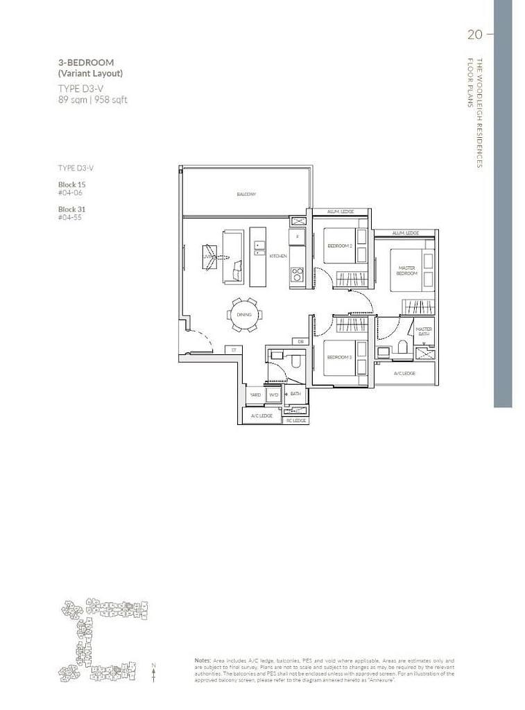 Woodleigh Residences Woodleigh Residences floorplan type D3 V