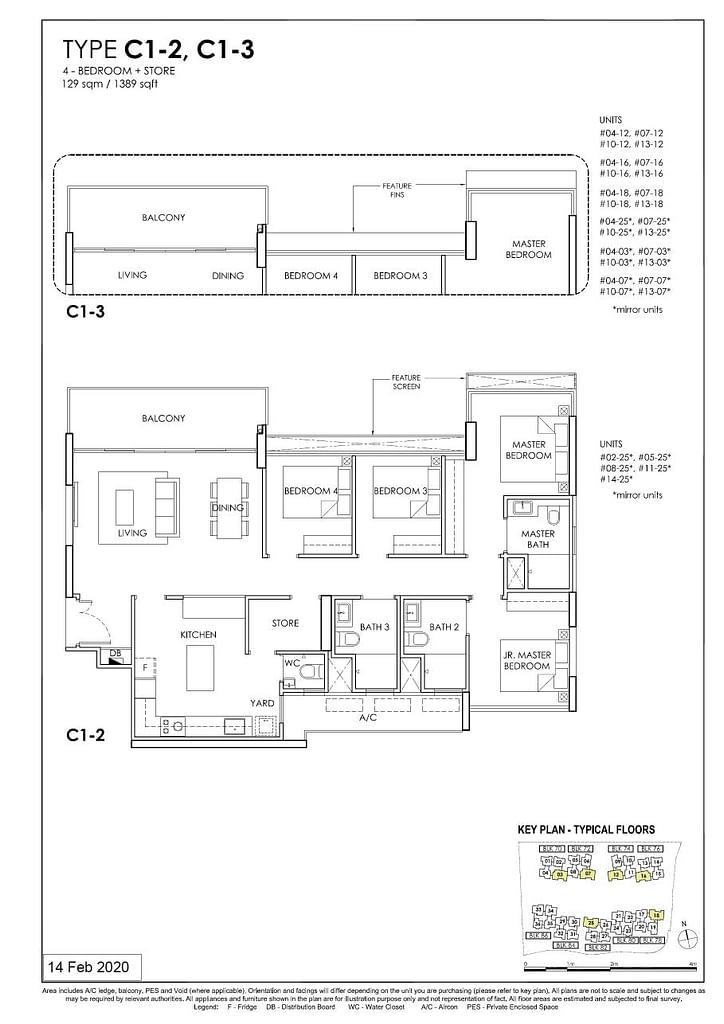 OLÁ OLA floorplan type C1 3