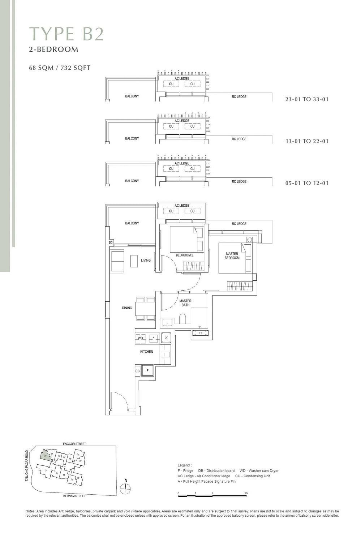 One Bernam One Bernam floorplan B2 scaled