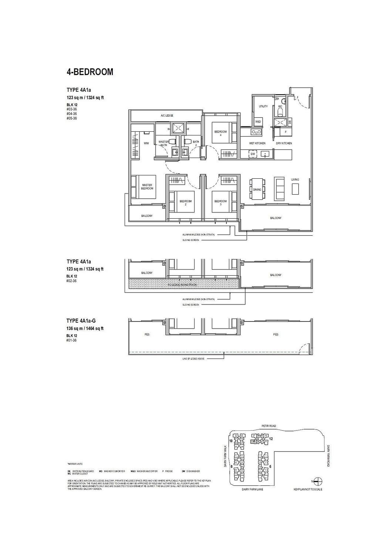 Dairy Farm Residences Dairy Farm Residences floorplan 4A1a G