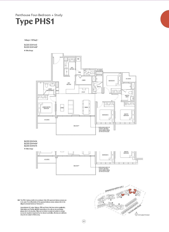 Affinity at Serangoon Affinity at Serangoon floorplan PHS1 scaled