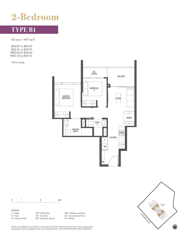 Pullman Residence Pullman Residence Floorplan B1