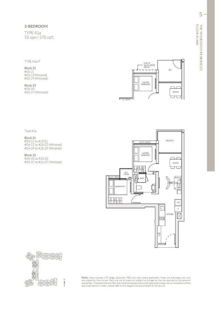 Woodleigh Residences Woodleigh Residences floorplan type A1a P
