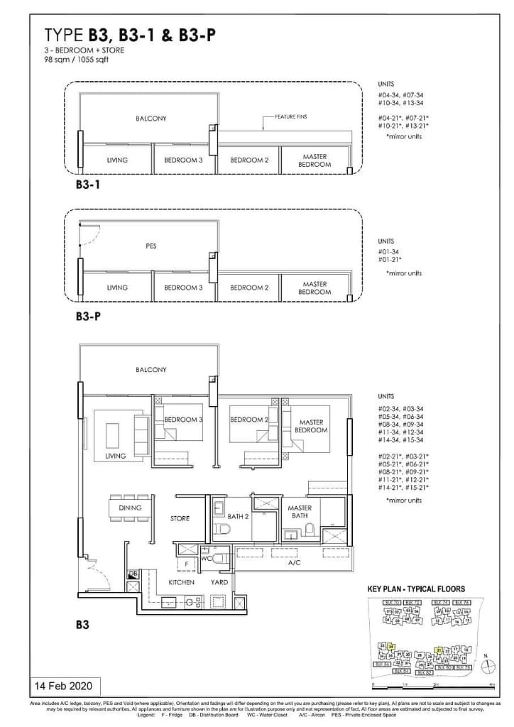 OLÁ OLA floorplan type B3 P