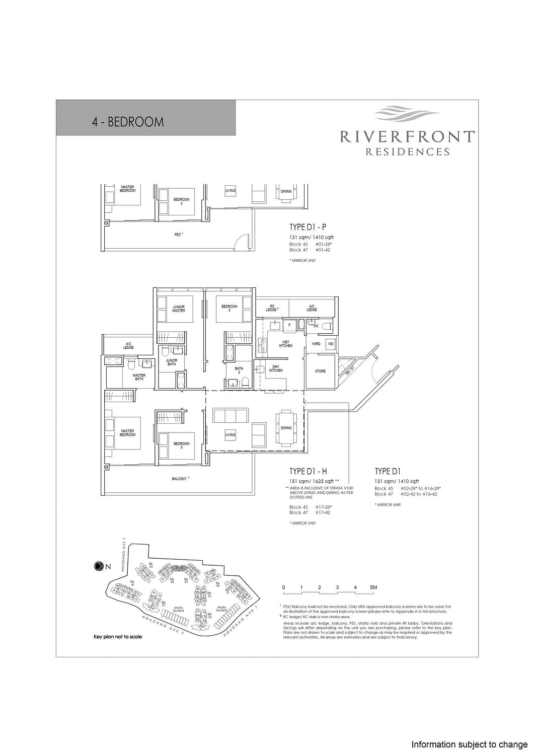 Riverfront Residences Riverfront Residences Floorplan D1 scaled