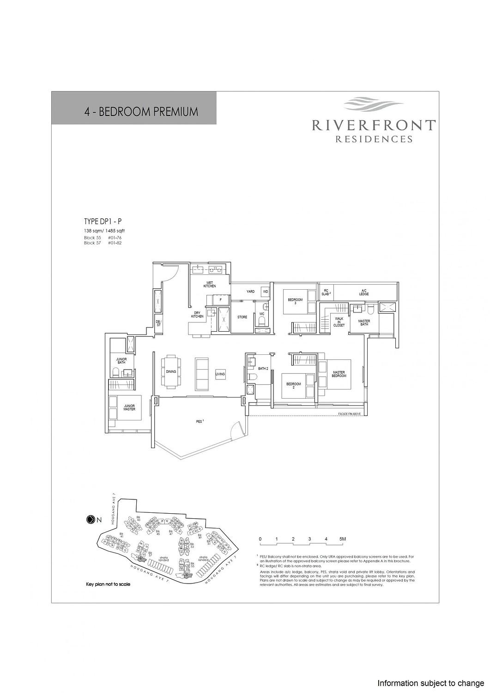 Riverfront Residences Riverfront Residences Floorplan DP1 P scaled
