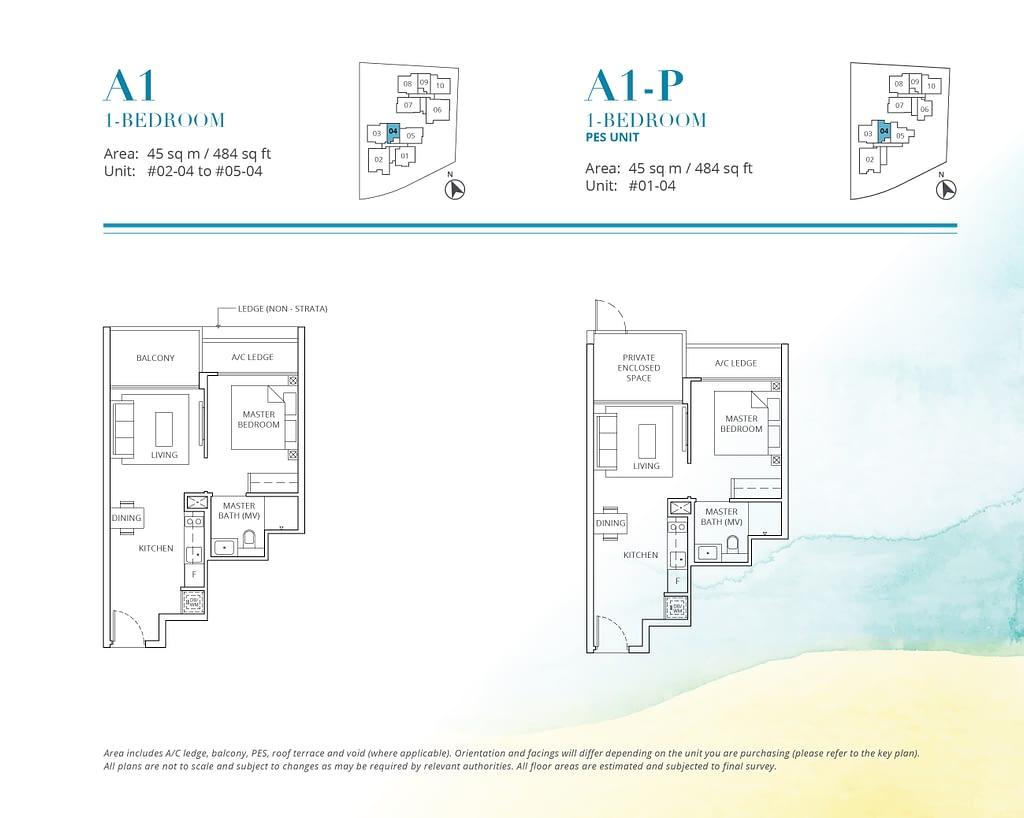 Casa Al Mare Casa Al Mare floorplan type A1