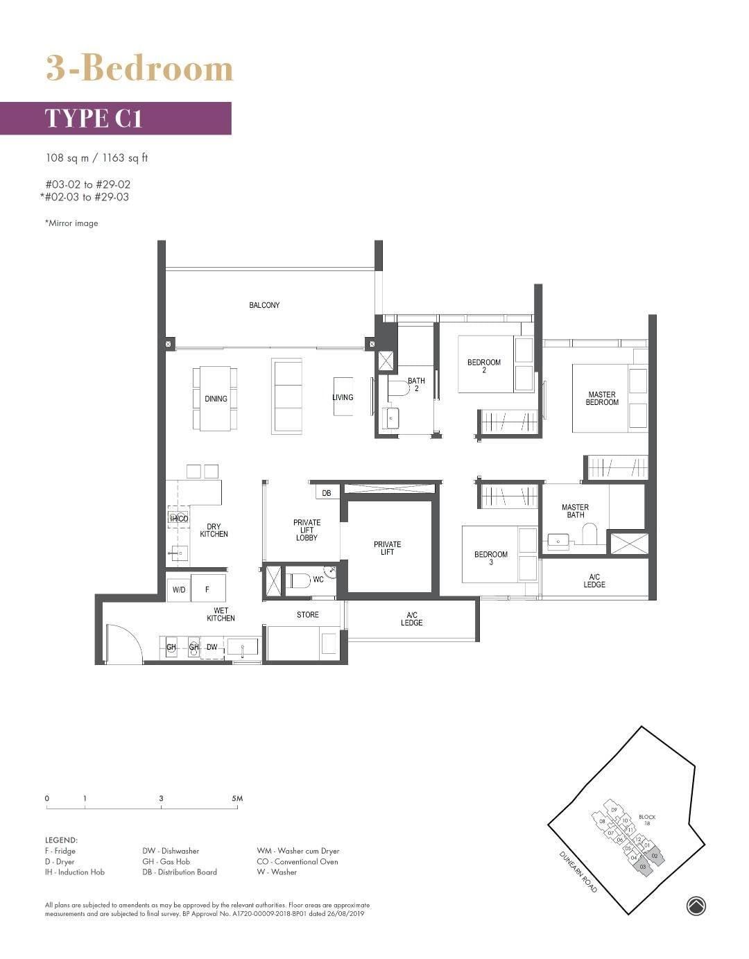 Pullman Residence Pullman Residence Floorplan C1