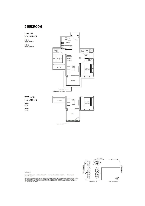 Dairy Farm Residences Dairy Farm Residences floorplan 2A2 G