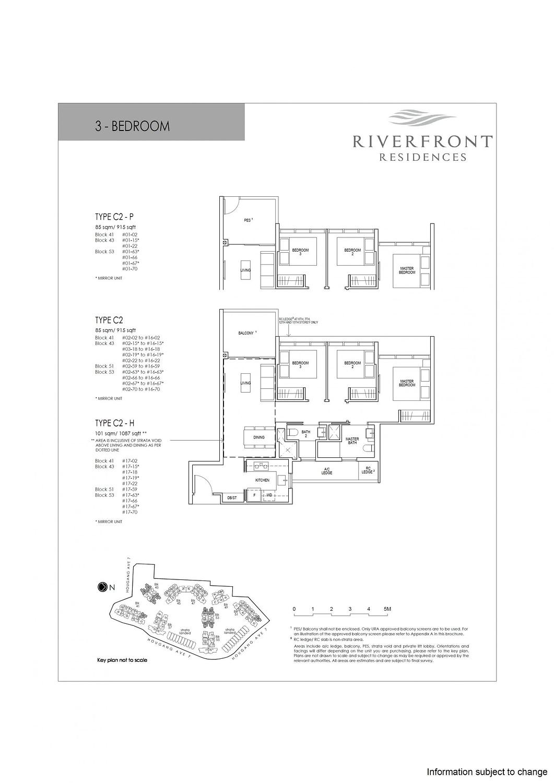 Riverfront Residences Riverfront Residences Floorplan C2 H scaled