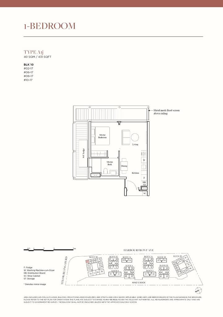 The Reef at King's Dock The Reef floorplan type A1j