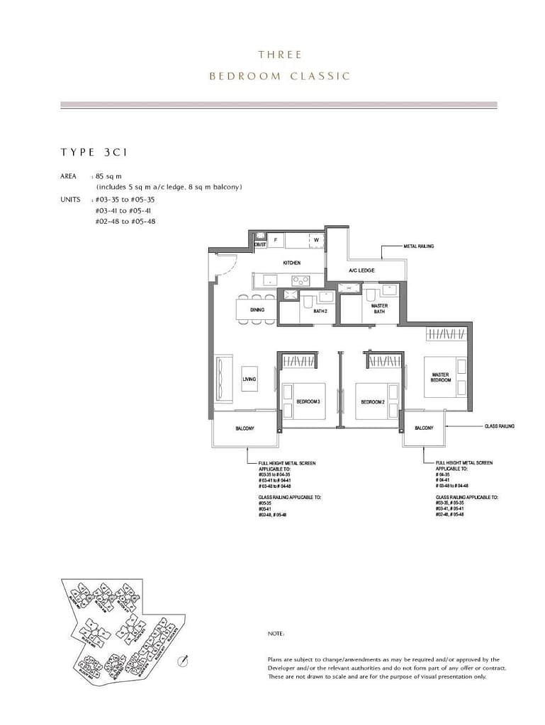 Parc Komo Parc Komo floorplan type 3C1