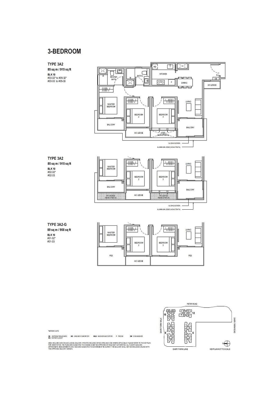 Dairy Farm Residences Dairy Farm Residences floorplan 3A2 G