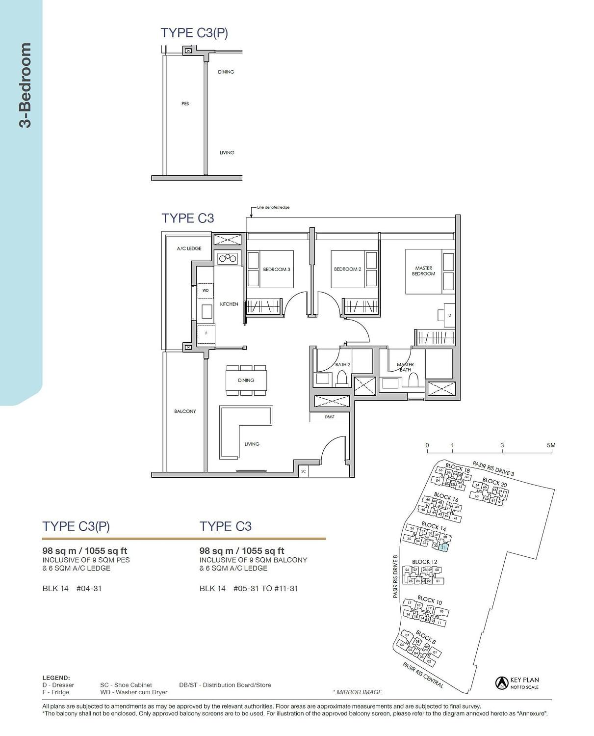 Pasir Ris 8 Pasir Ris 8 Floorplan C3