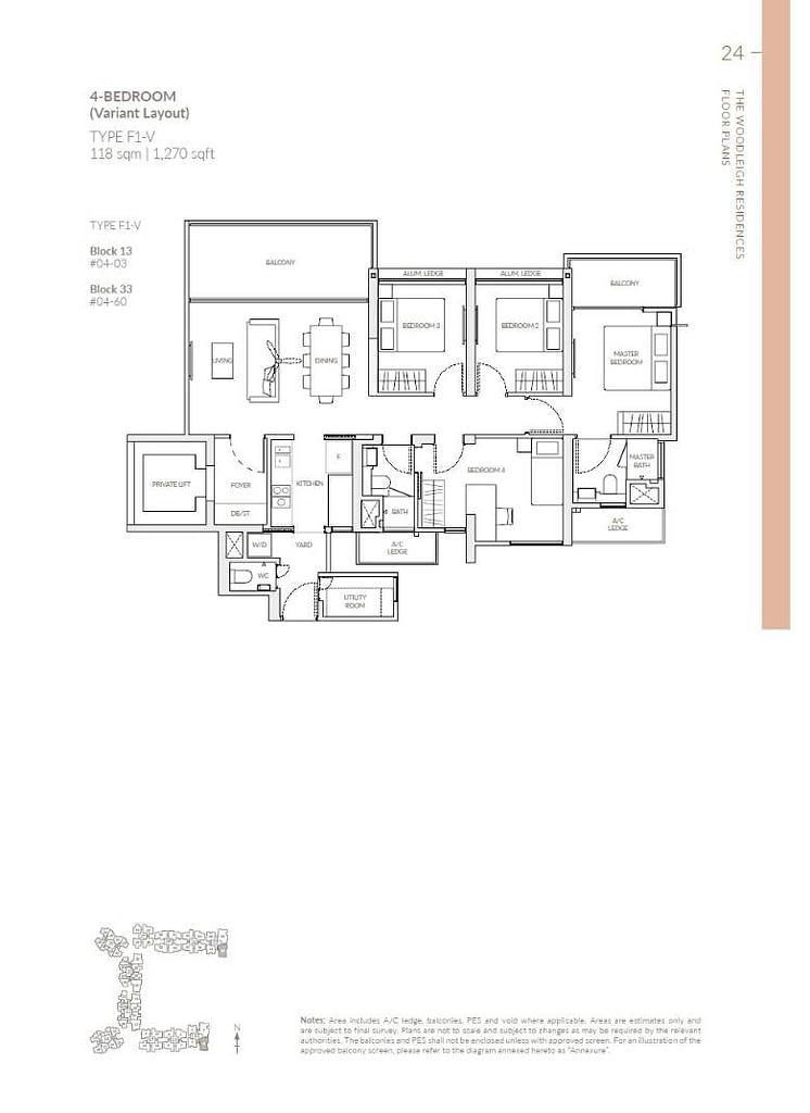 Woodleigh Residences Woodleigh Residences floorplan type F1 V
