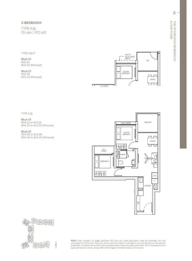 Woodleigh Residences Woodleigh Residences floorplan type A1b P