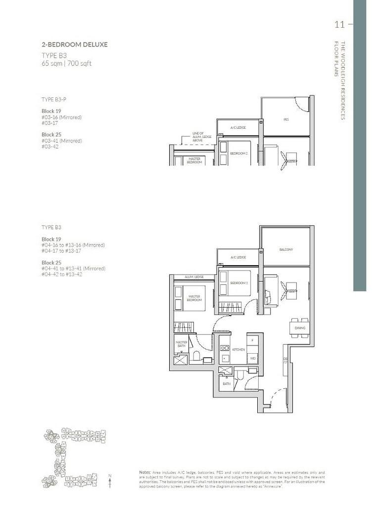 Woodleigh Residences Woodleigh Residences floorplan type B3 P