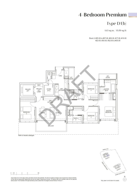 Irwell Hill Residences Irwell Hill Residences floorplan type D1b