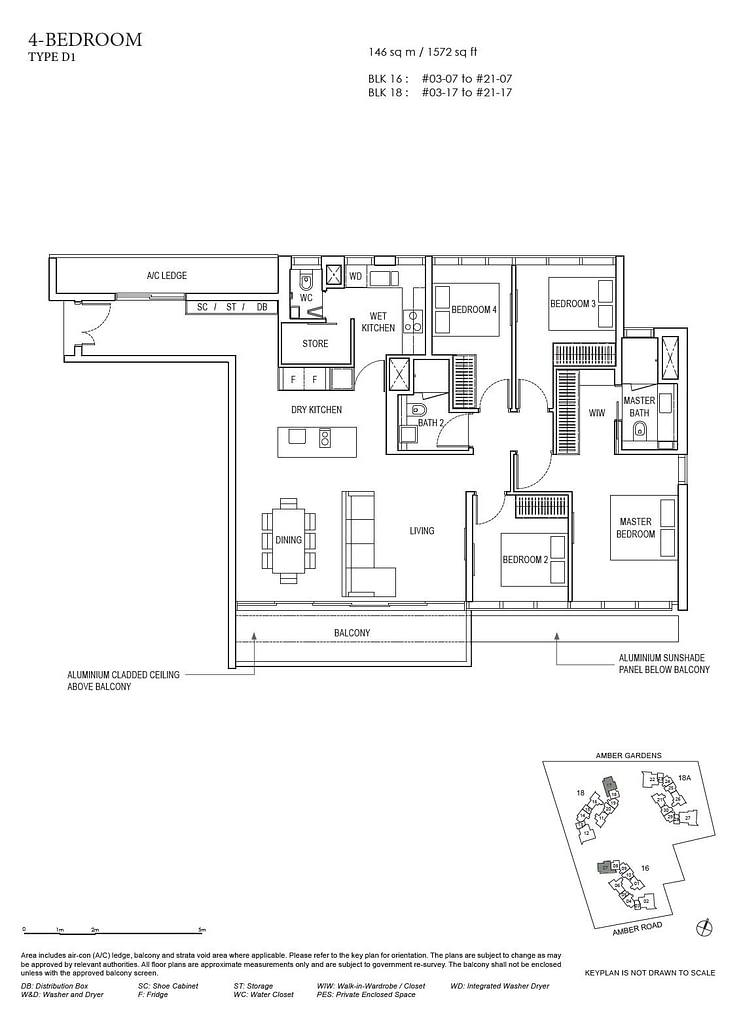 Amber Park Amber Park floorplan layout D1