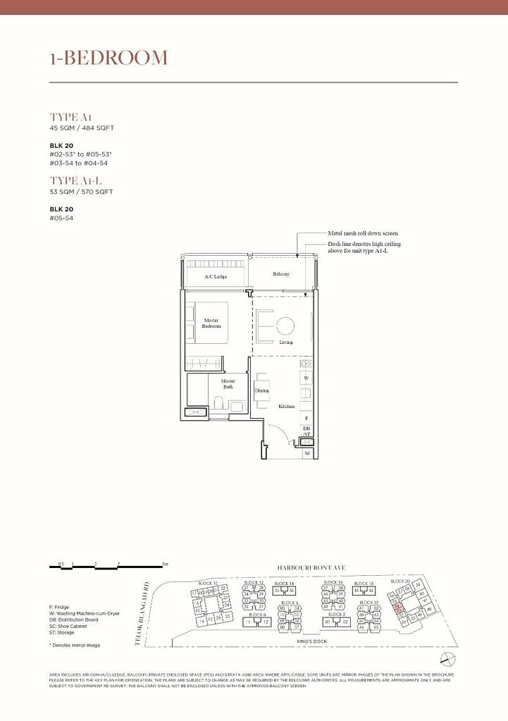 The Reef at King's Dock The Reef floorplan type A1