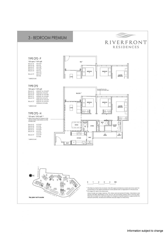 Riverfront Residences Riverfront Residences Floorplan CP2 H scaled