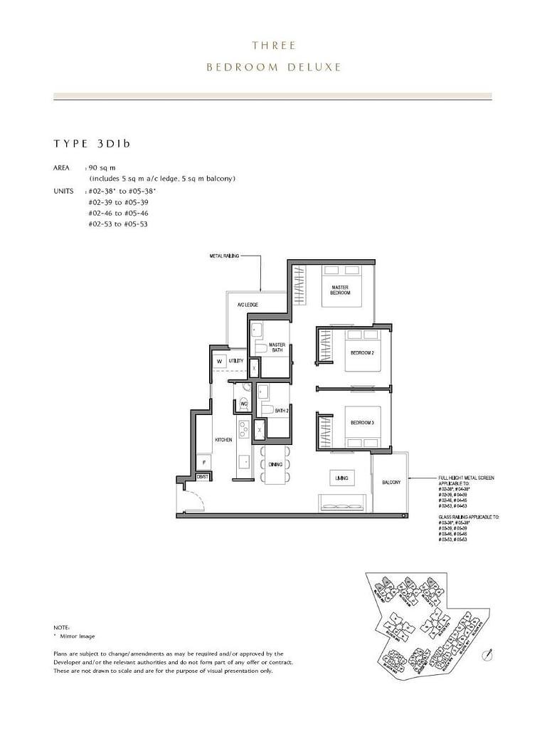 Parc Komo Parc Komo floorplan type 3D1b