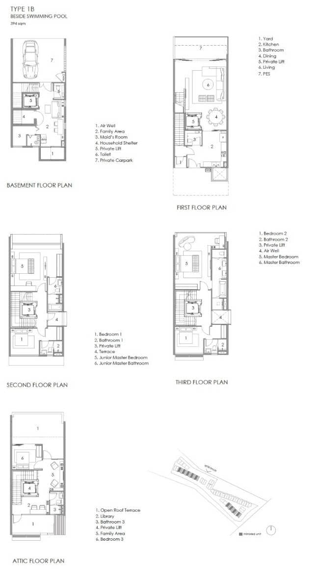 Parkwood Collection Parkwood Collection Floorplan 1B Besides Swimming Pool