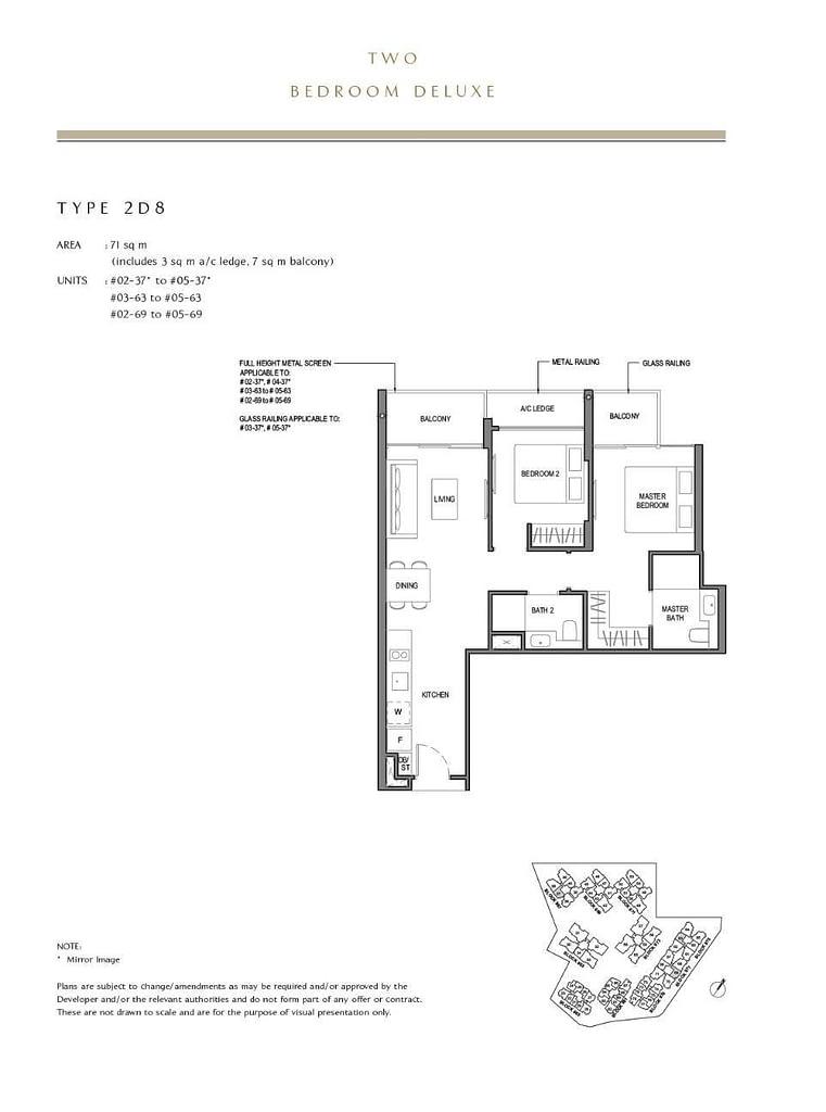 Parc Komo Parc Komo floorplan type 2D8