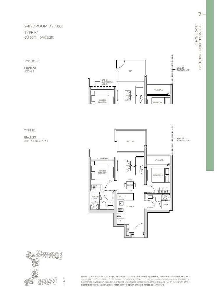 Woodleigh Residences Woodleigh Residences floorplan type B1 P