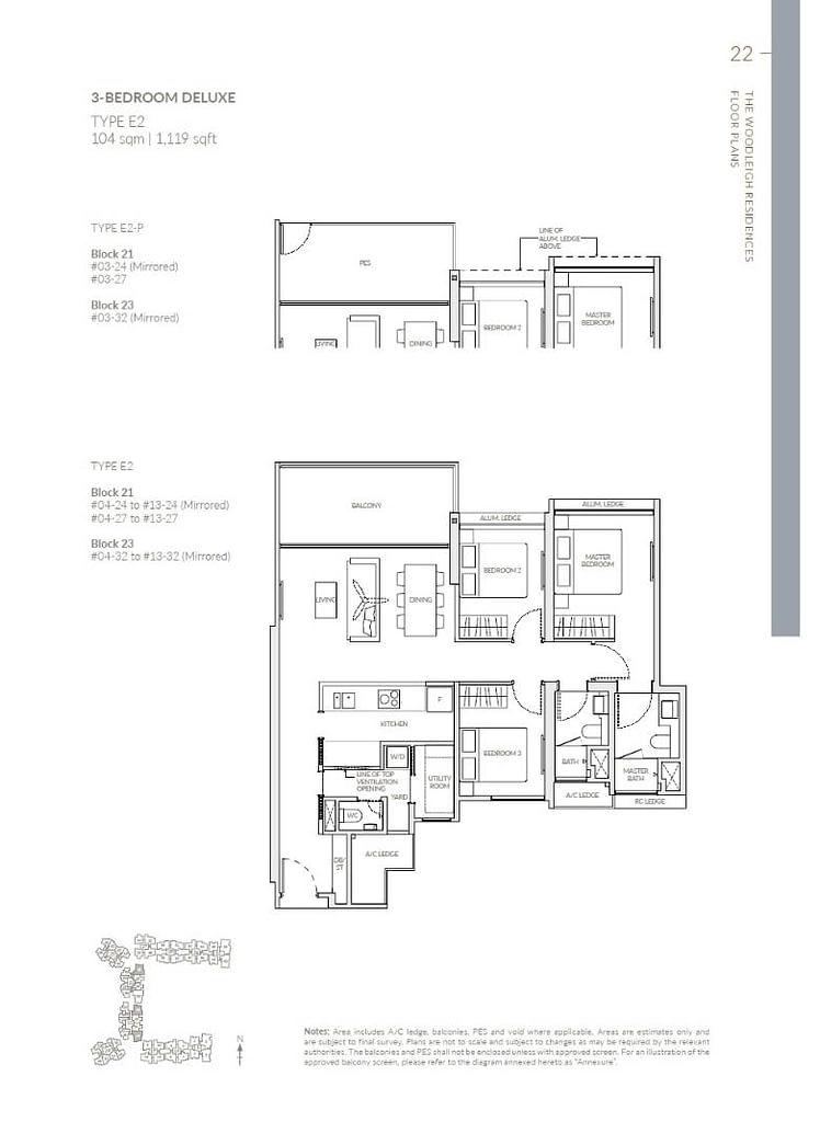 Woodleigh Residences Woodleigh Residences floorplan type E2 P
