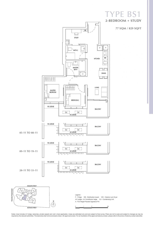 One Bernam One Bernam floorplan BS1 scaled