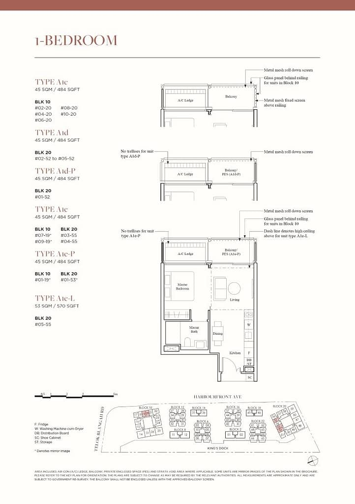 The Reef at King's Dock The Reef floorplan type A1d P
