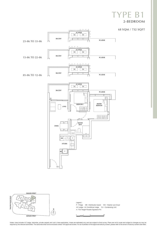 One Bernam One Bernam floorplan B1 scaled