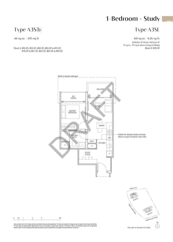 Irwell Hill Residences Irwell Hill Residences floorplan type A3Sb