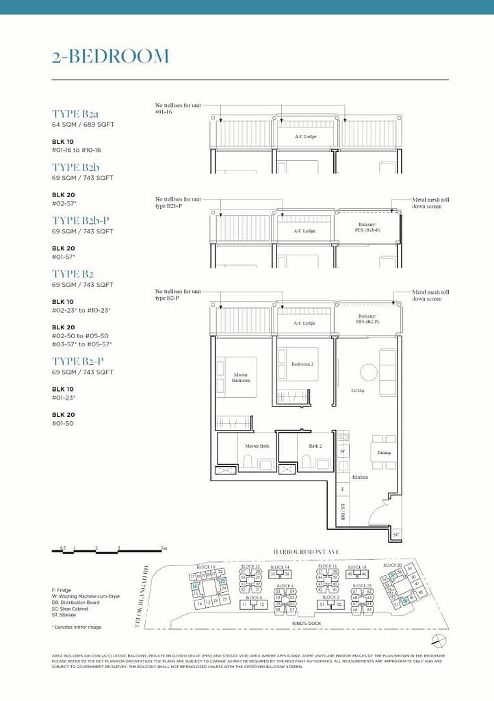 The Reef at King's Dock The Reef floorplan type B2a