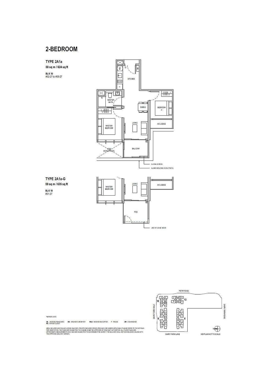 Dairy Farm Residences Dairy Farm Residences floorplan 2A1a G