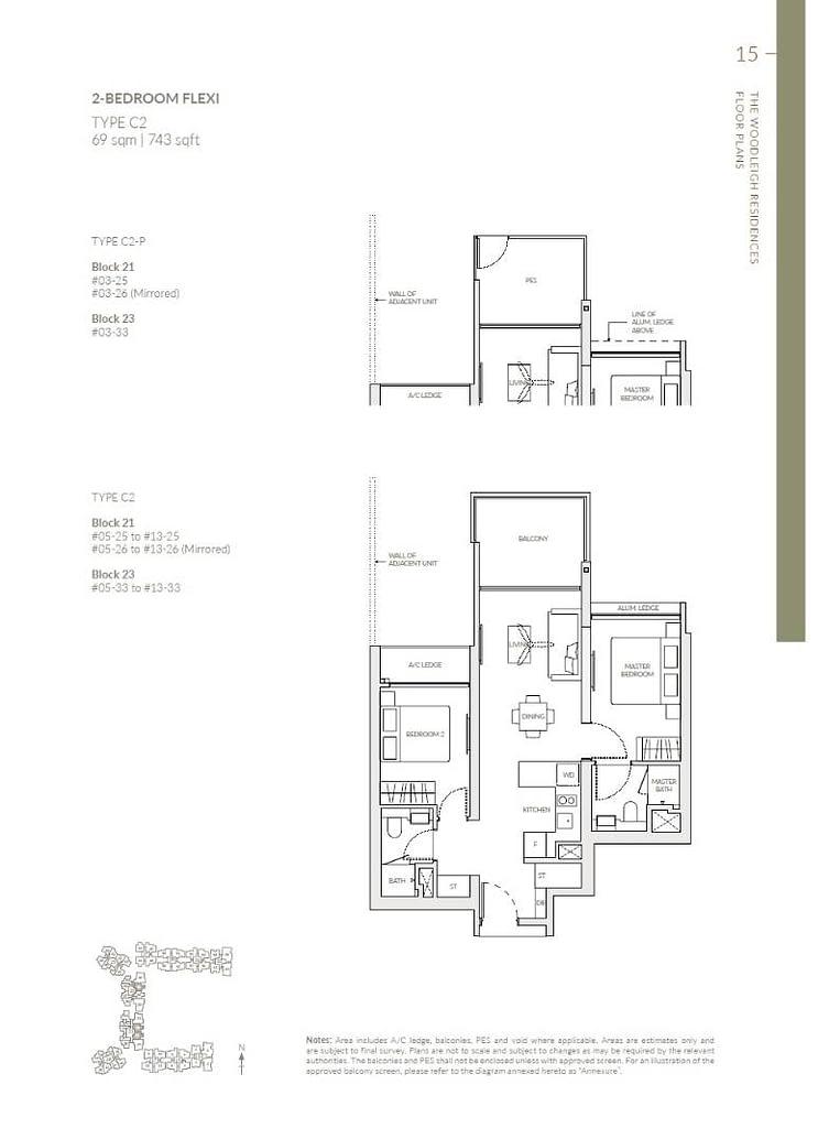 Woodleigh Residences Woodleigh Residences floorplan type C2 P