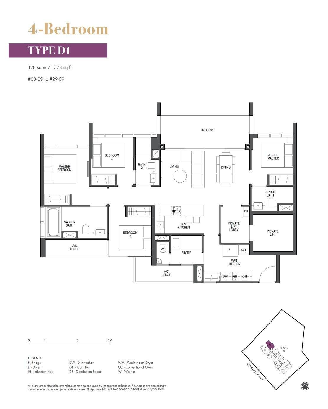 Pullman Residence Pullman Residence Floorplan D1