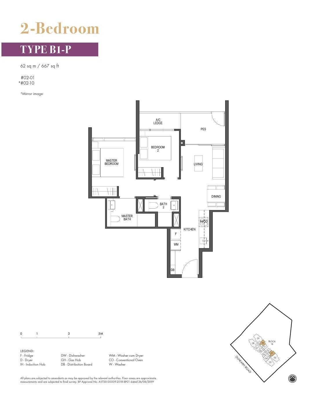 Pullman Residence Pullman Residence Floorplan B1 P