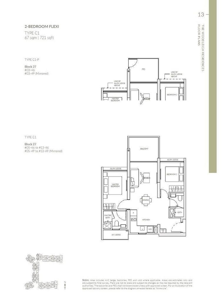 Woodleigh Residences Woodleigh Residences floorplan type C1 P