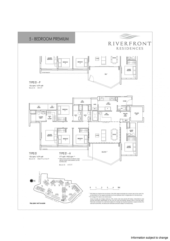 Riverfront Residences Riverfront Residences Floorplan E1 H scaled