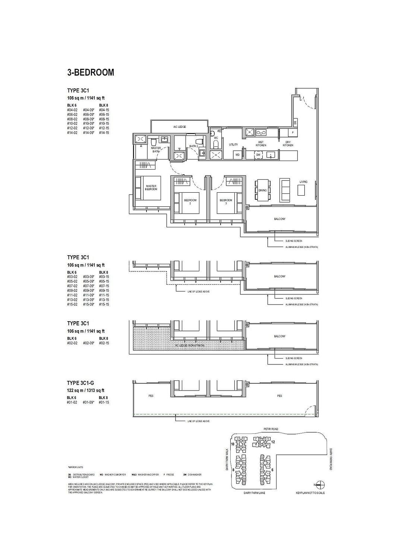 Dairy Farm Residences Dairy Farm Residences floorplan 3C1